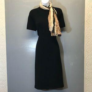 Talbots Black Dress With Free Scarf